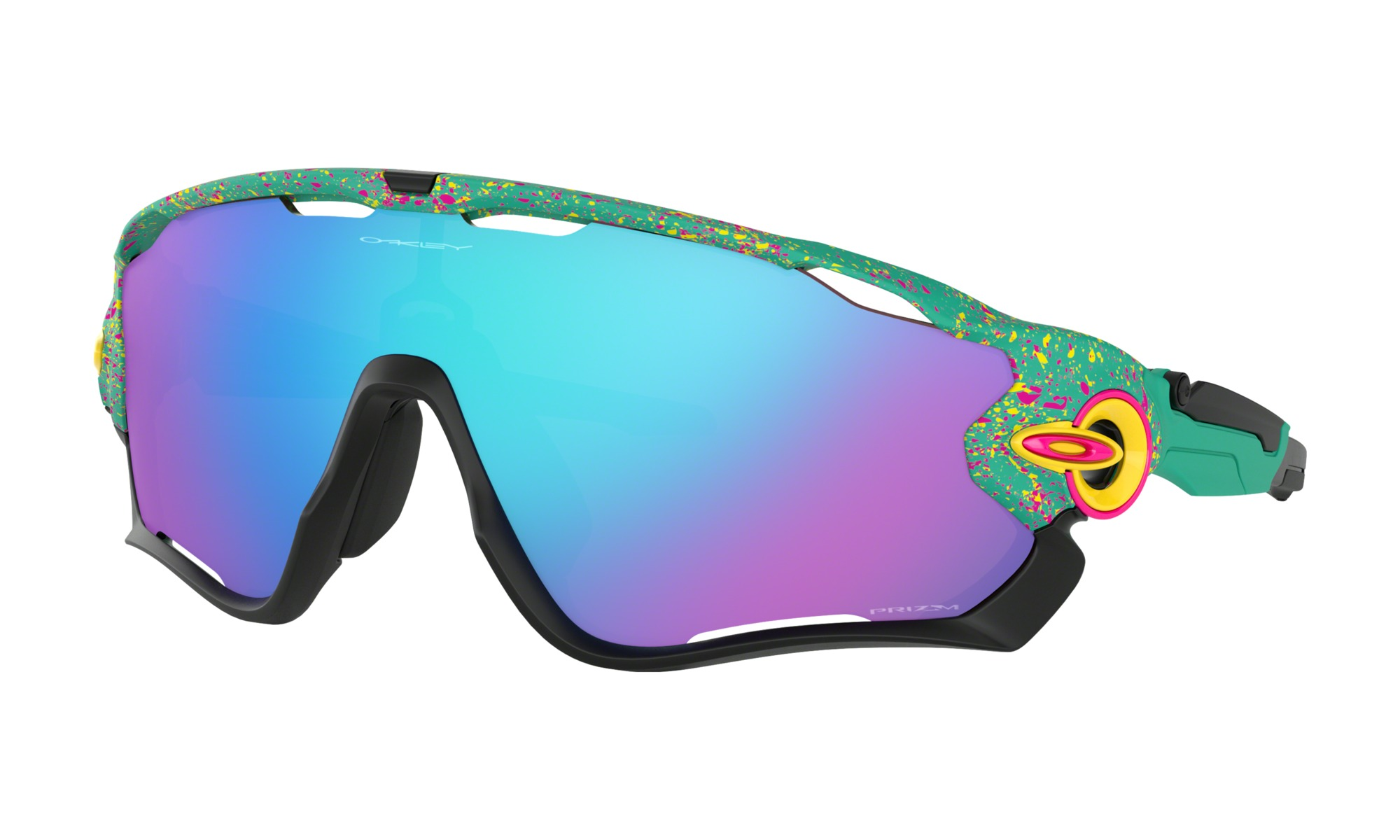Fake Oakley Jawbreaker Splatterfade Collection Celeste Frame Prizm Sapphire Lens